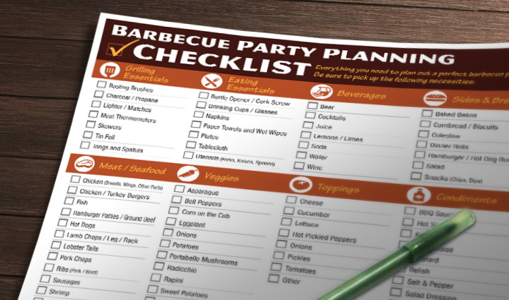 Barbecue party checklist griller s spot