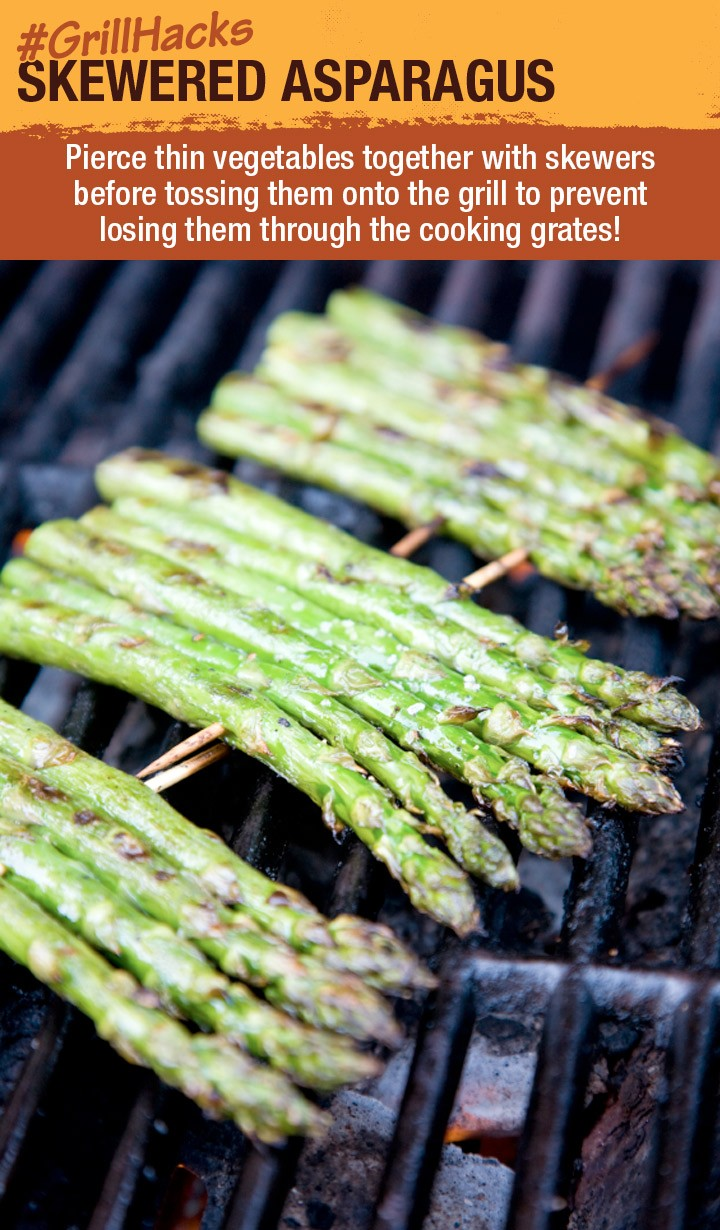 Grill Hack - Skewered Asparagus