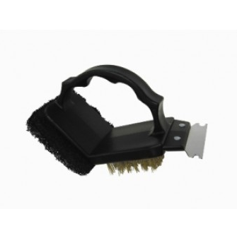 GrillPro 2-Way Grill Brush with Scrub