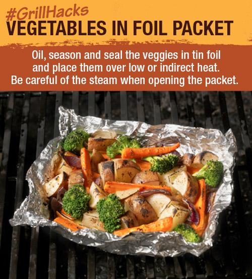 Vegetables in Foil Packet