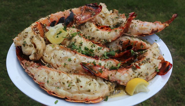 Grilled lobster tail recipe griller 39 s spot Cooking turkey split in half