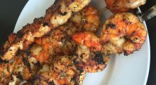 Smoking Grilled Shrimp Recipe